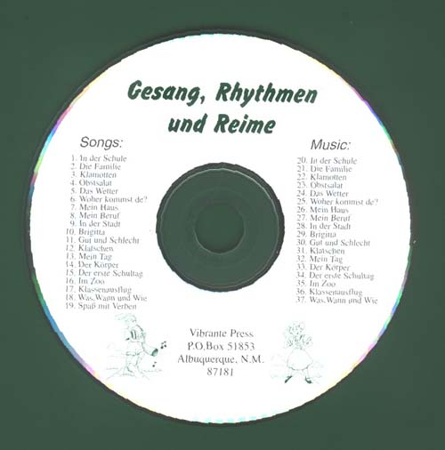 gesang cd for webh