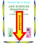Life Sciences in Pictures for Special Ed, ELL and ESL Students – Downloadable