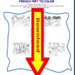 French Art to Color Digital Download